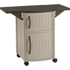 Serving Station Patio Cabinet - Light Taupe