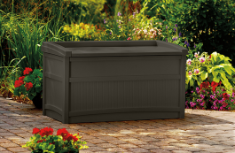50 Gallon Deck Box With Seat Java Suncast Corporation