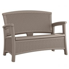 Suncast ELEMENTS Loveseat with Storage - Dark Taupe