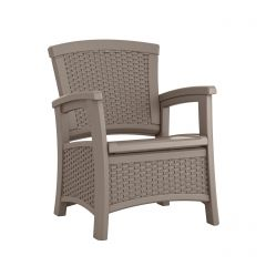 Suncast ELEMENTS Club Chair with Storage - Dark Taupe