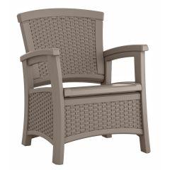 Suncast® Elements® Club Chair with Storage - Dark Taupe