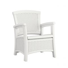 Suncast ELEMENTS Club Chair with Storage - White