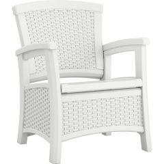 Suncast® Elements® Club Chair with Storage - White