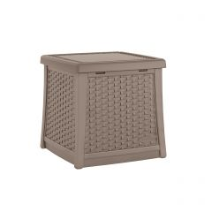 Suncast ELEMENTS End Table with Storage - Dark Taupe