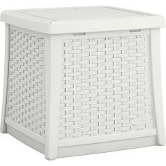 Suncast® Elements® End Table with Storage - White