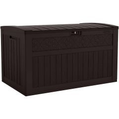 134 Gallon Extra Large Deck Box - Java
