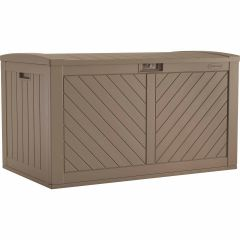 134 Gallon Extra Large Deck Box - Dark Taupe