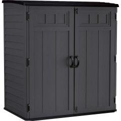 Extra Large Vertical Storage Shed with Tool Hooks - Peppercorn