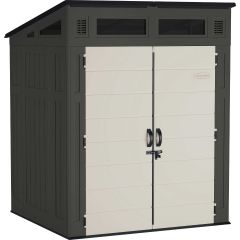 Modernist™ 6 ft. x 5 ft. Storage Shed - Peppercorn