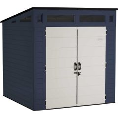 7 ft. x 7 ft.  Defender™ Storage Shed - Charcoal Blue