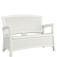 Suncast® Elements® Loveseat with Storage - White
