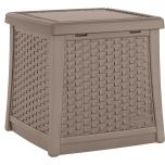 Suncast® Elements® End Table with Storage - Dark Taupe