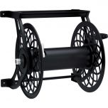 125 ft. Decorative Metal Hose Reel- Black