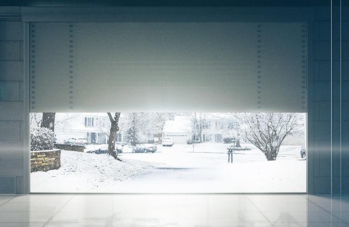 Snowy garage