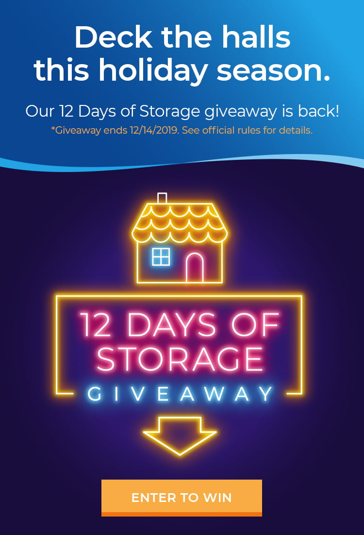 12 days of storage giveaway. Enter now.