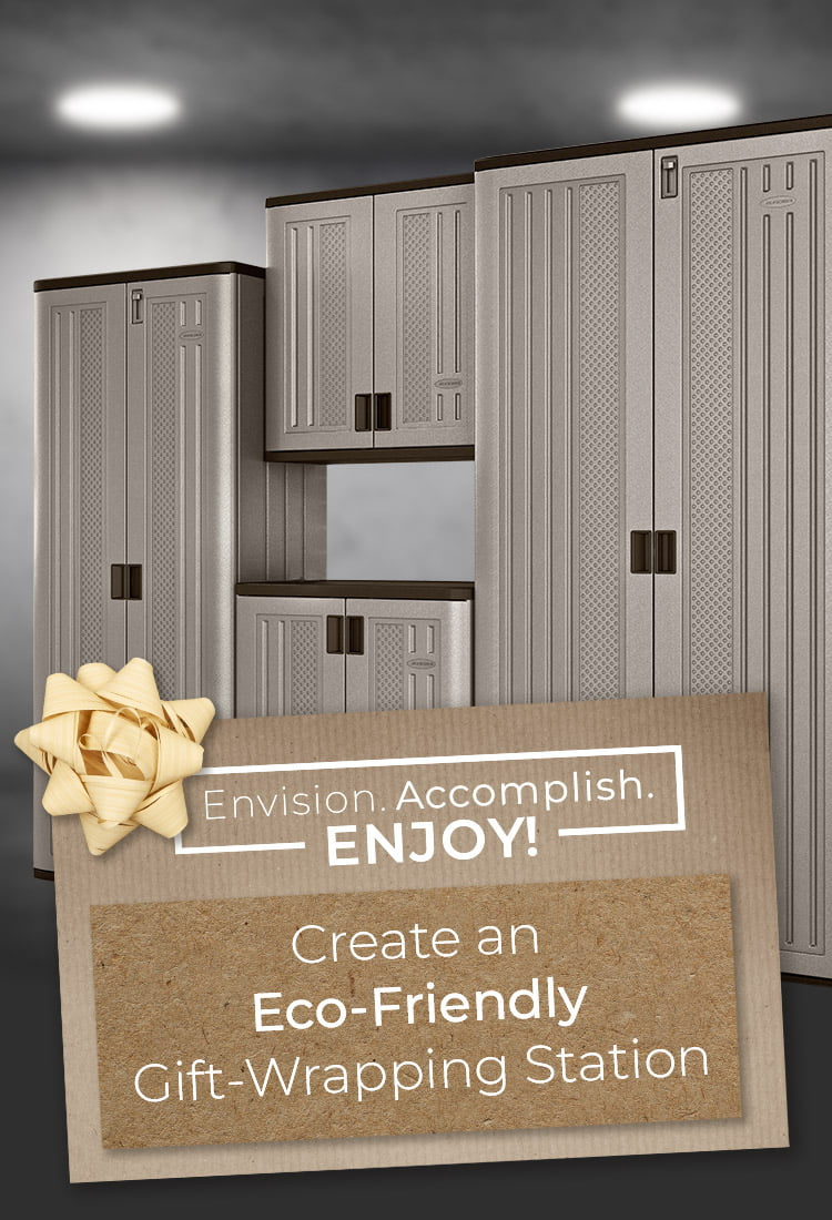 Create an Eco-Friendly Gift-Wrap Station