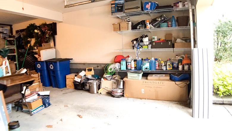 Garage before