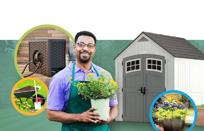 Gardening shed storage