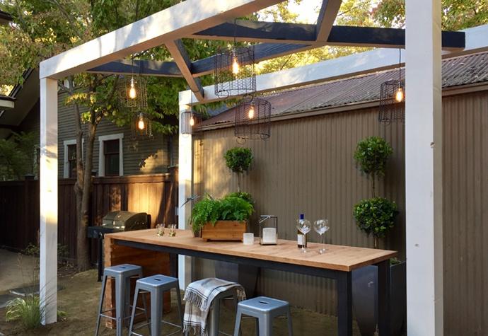Back yard bar
