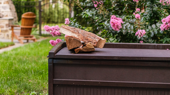 Firewood deck box