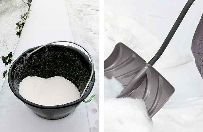 Ice melter and shovel