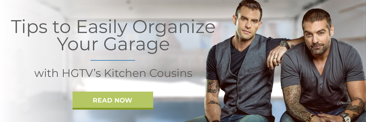 Tips to easily organize your garage with HGTV's Kitchen Cousins