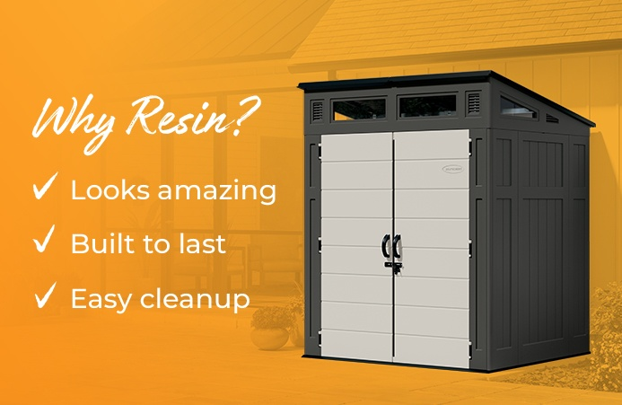Why resin? Looks amazing; built to last; easy cleanup.