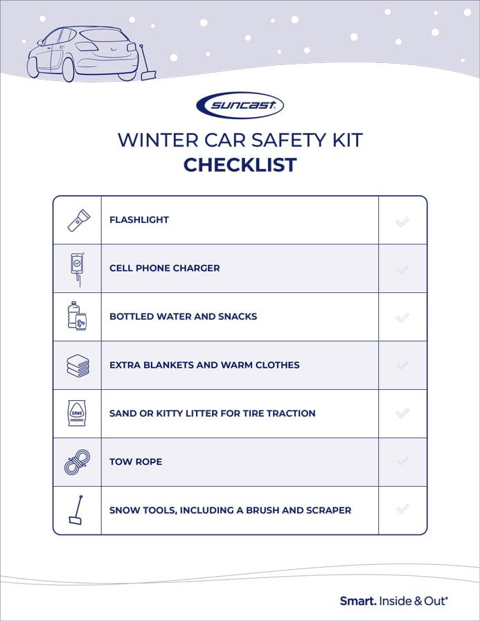 Winter car safety kit checklist