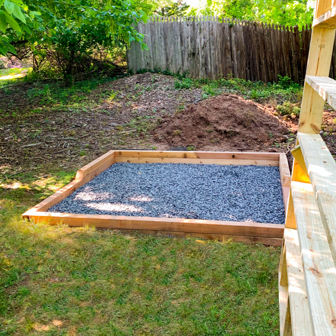 Gravel foundation