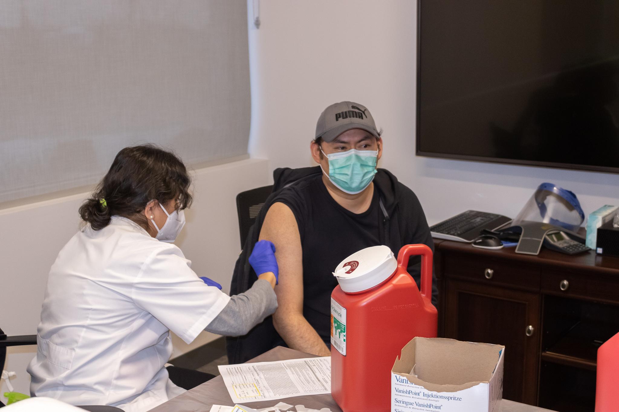 Suncast employee vaccination event