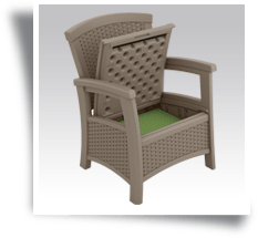 Suncast Elements Club Chair With Storage Dark Taupe