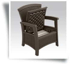 Suncast ELEMENTS Club Chair with storage Java