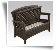 Suncast ELEMENTS Love Seat with storage Java
