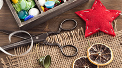 Eco-friendly gift wrap station
