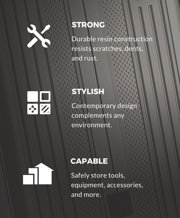 Garage storage: strong, stylish, capable