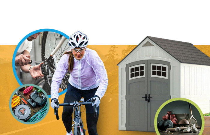 Sport shed storage