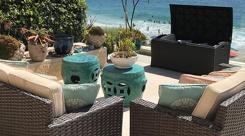 Seaside backyard